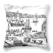 Brooklyn Ferry, C1765 Throw Pillow