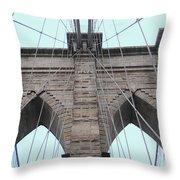 Brooklyn In Blue Throw Pillow