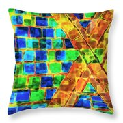 Brooklyn Tile Abstract Throw Pillow