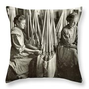 Broom Manufacture, 1908 Throw Pillow by Granger