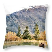 Brown Bear 207 Throw Pillow
