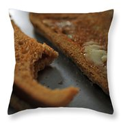 Brown Bread With Butter Throw Pillow