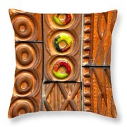Brown Ceramic Tiles Throw Pillow