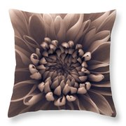 Brown Flower Throw Pillow