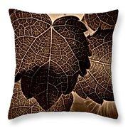 Brown Ivy Throw Pillow
