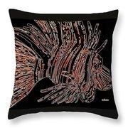Brown Lion Fish Throw Pillow