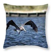 Brown Pelican - Low Flyer Throw Pillow