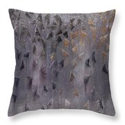 Brown Thaw Throw Pillow