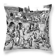 Bruegel: Ice Skaters Throw Pillow