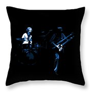 Bruford And Rutherford Blue Throw Pillow