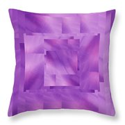 Brushed Purple Violet 10 Throw Pillow