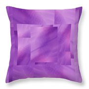 Brushed Purple Violet 2 Throw Pillow