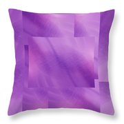 Brushed Purple Violet 5 Throw Pillow