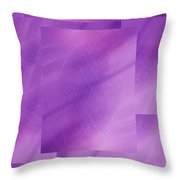 Brushed Purple Violet 6 Throw Pillow