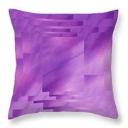 Brushed Purple Violet 8 Throw Pillow