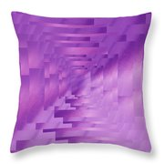 Brushed Purple Violet 9 Throw Pillow