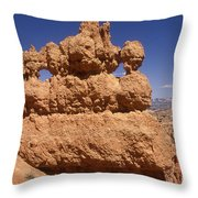 Bryce Canyon - Mask Formation Throw Pillow