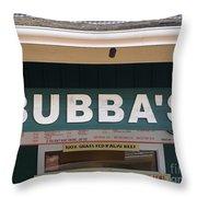 Bubba Burgers Throw Pillow