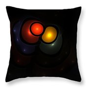Bubble Art 3 Lovers Throw Pillow