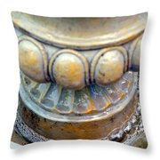 Bubble Beaded Necklace Throw Pillow