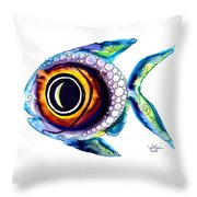 Bubble Fish One Throw Pillow