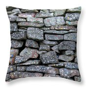 Bubble Gum Wall Throw Pillow