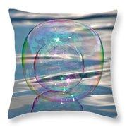 Bubble In A Bubble Throw Pillow