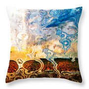 Bubble Landscape Abstract Throw Pillow