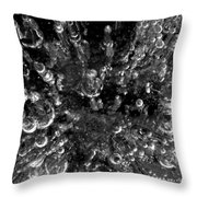 Bubble Towers Trapped In Ice Macro Image Throw Pillow