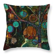Bubble Tree - Spc01ct04 - Left Throw Pillow