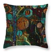 Bubble Tree - Spc01ct04 - Right Throw Pillow