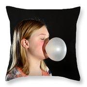 Bubblegum Bubble 2 Of 6 Throw Pillow