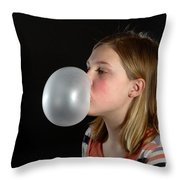 Bubblegum Bubble 3 Of 6 Throw Pillow