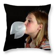 Bubblegum Bubble 4 Of 6 Throw Pillow
