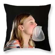 Bubblegum Bubble 5 Of 6 Throw Pillow