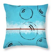 Bubbles Of Energy On A Blue Horizon Throw Pillow