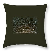 Bubbles Of Steam Black Throw Pillow