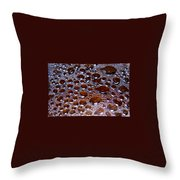 Bubbles Of Steam Cherry Wine Red Throw Pillow