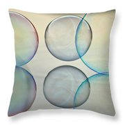 Bubbles On The Water Throw Pillow