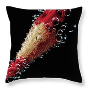 Bubbles Throw Pillow by Tanja Riedel