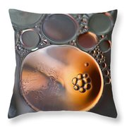 Bubbles V Throw Pillow