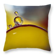 Bubbles Vi Throw Pillow