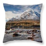 Buchaille Etive Mhor - Glencoe Throw Pillow