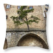 Buchlov Castle Throw Pillow