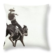 Bucking Bronco, C1888 Throw Pillow