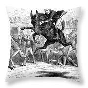 Bucking Mule, 1879 Throw Pillow
