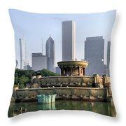 Buckingham Fountain - 1 Throw Pillow