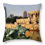 Buckingham Fountain - 3 Throw Pillow