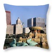 Buckingham Fountain - 4 Throw Pillow