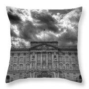 Buckingham Palace Bw Throw Pillow